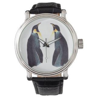 Reloj de la correa de cuero del vintage de los