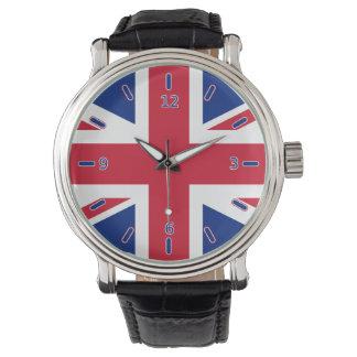 Reloj de la correa de cuero del vintage de Union