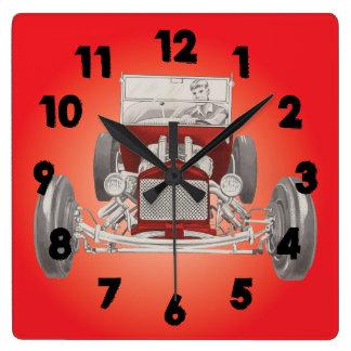 Reloj de la cueva del hombre del garaje del coche