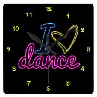 Reloj de la danza del amor del neón I
