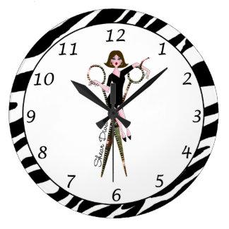 """""""Reloj de la diva del esquileo"""" Reloj Redondo Grande"""