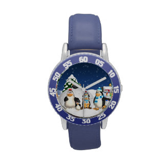 Reloj de la diversión de las vacaciones de inviern