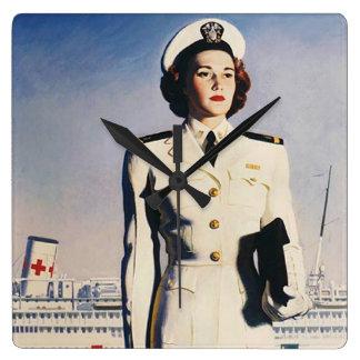 Reloj de la enfermera de la marina de guerra del v