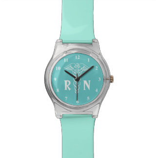 Reloj de la enfermera registradoa del RN con símbo