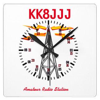 Reloj de la estación para los operadores de equipo