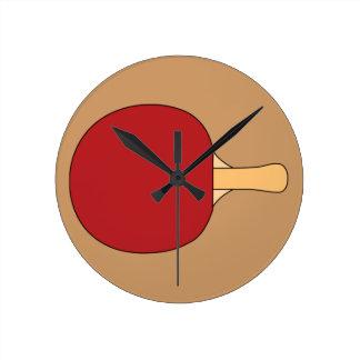 Reloj de la estafa de tenis de mesa