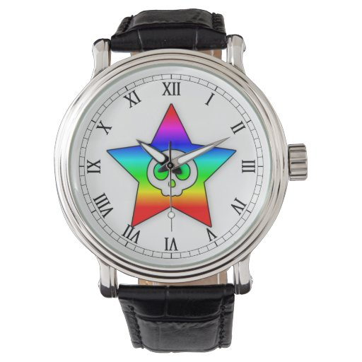 Reloj de la estrella del cráneo del arco iris