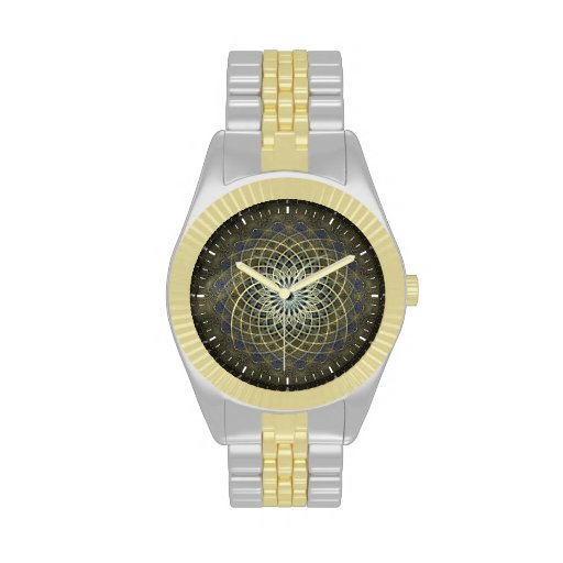Reloj de la estrella del diseño geométrico