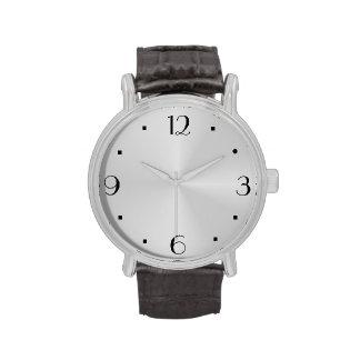 Reloj de la fábrica del ewatch grande llano de la