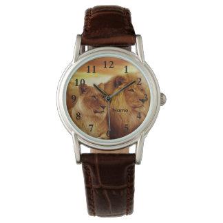 Reloj de la fauna de los leones