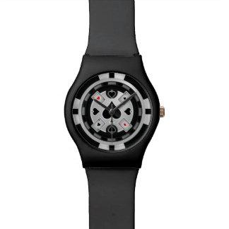 Reloj de la ficha de póker del casino