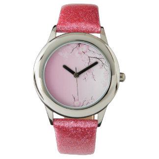 Reloj de la flor de cerezo