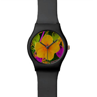 Reloj de la flor del fiesta