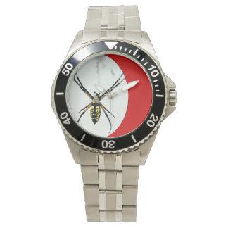 Reloj de la foto de la araña del orbe