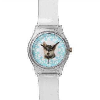 Reloj de la foto del amante del mascota del pawpri