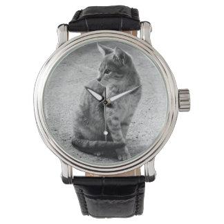 Reloj de la foto del gatito