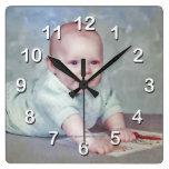 Reloj de la Foto-Pared del bebé