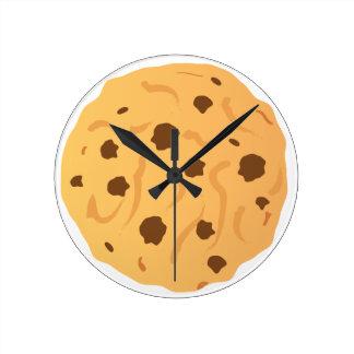 Reloj de la galleta de microprocesador de chocolat