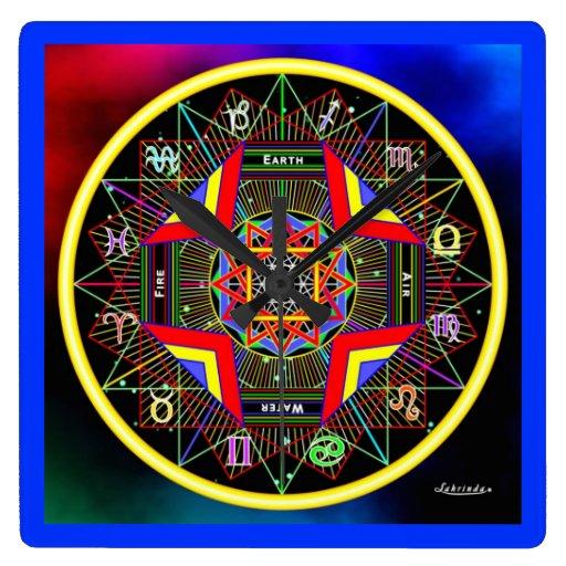 Reloj de la geometría del zodiaco
