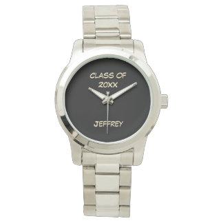 Reloj de la graduación, clase de, color plata