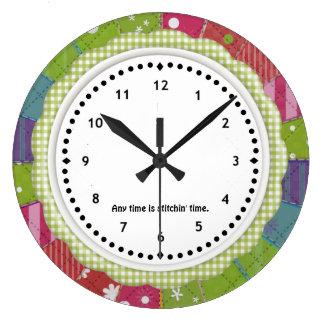 Reloj de la guinga y de la pared de Quilter del re