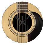Reloj de la guitarra acústica