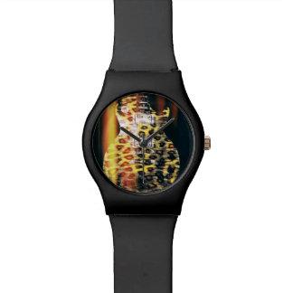 Reloj de la guitarra del guepardo