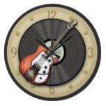 Reloj de la guitarra del vintage y de pared del di