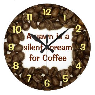 Reloj de la haba de Coffe