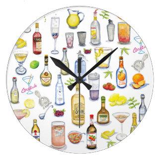 Reloj de la hora del cóctel