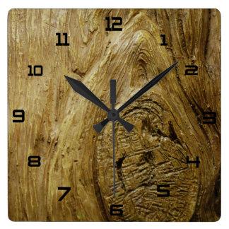 Reloj de la imagen de la corteza de árbol
