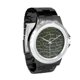 Reloj de la impresión del cocodrilo