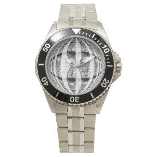 Reloj de la impresión del cromo del orbe