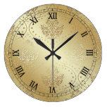 Reloj de la impresión del damasco del Victorian de