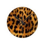 Reloj de la impresión del guepardo