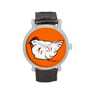 Reloj de la impresión del pollo