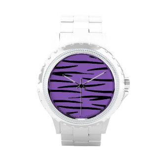 Reloj de la impresión del tigre