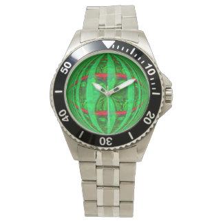 Reloj de la impresión del verde del orbe