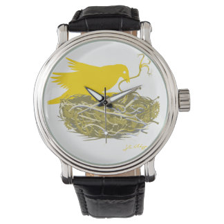 reloj de la jerarquía del pájaro del steampunk