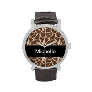 Reloj de la jirafa del monograma