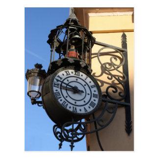 Reloj de la lámpara tarjeta postal