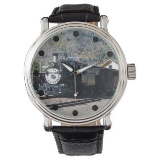 Reloj de la locomotora de vapor del indicador