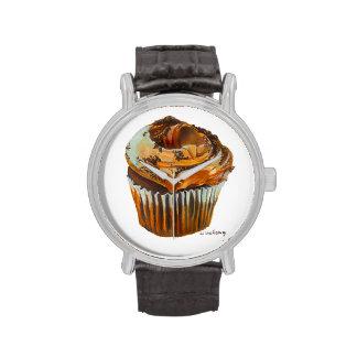 Reloj de la magdalena del chocolate