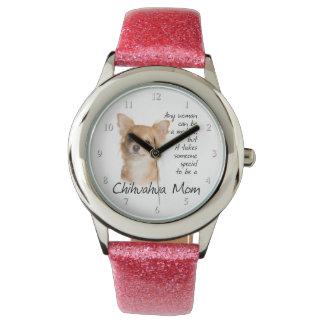 Reloj de la mamá de la chihuahua