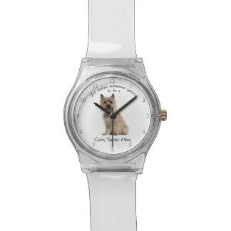 Reloj de la mamá de Terrier de mojón