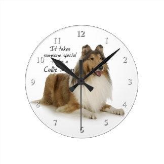 Reloj de la mamá del collie