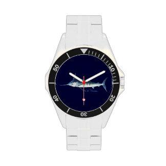 Reloj de la marina de guerra de la aguja azul
