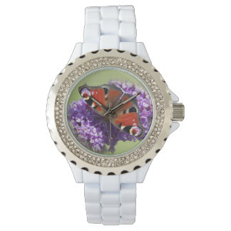 Reloj de la mariposa de pavo real