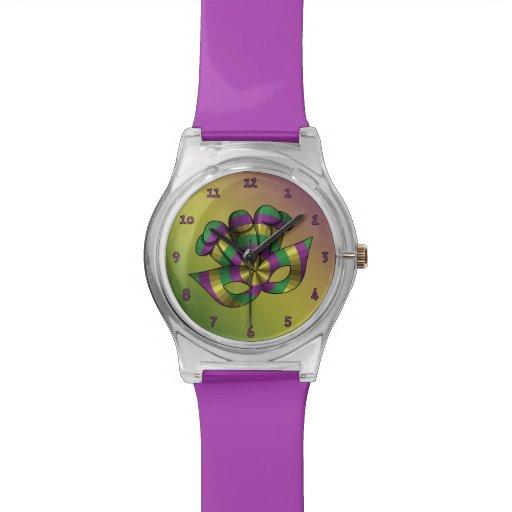 Reloj de la máscara May28th del carnaval