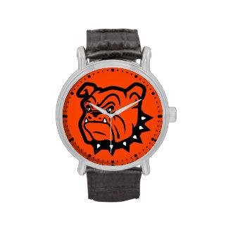 """Reloj de la """"mascota"""" de los dogos de Artesia"""